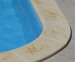 Bazénový lem z umělého pískovce